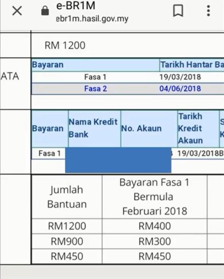 Pembayaran BRIM 2017 2018 – TARIKH SEBENAR BR1M 2019