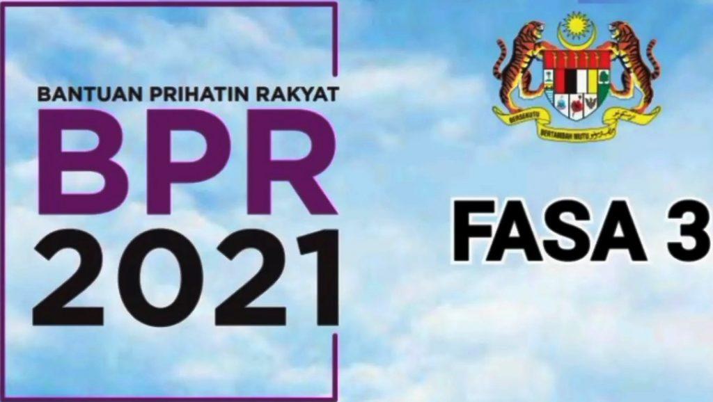 Semakan Tarikh Bayaran BPR FASA 3 dan Tambahan 2021